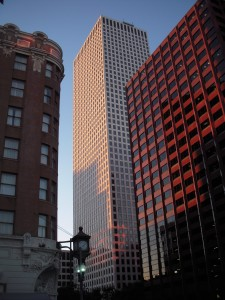 Though built in the 1970s, One Shell Square still stands as the tallest building in New Orleans at 697 ft. It is not uncommon to see modern skyscrapers mixed in with historic buildings such as the one on the left.