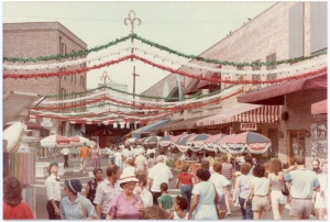 The Italian Village at the 1984 World's Fair. Fulton Street became a grand promenade to enter the fair.