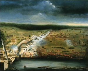 An artist rendition of the Battle of New Orleans painted by war veteran Jean Hyacinthe de Laclotte. www.andrewjackson.org
